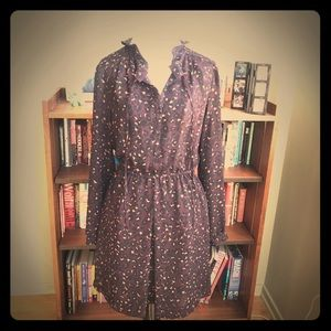 Purple pattern dress
